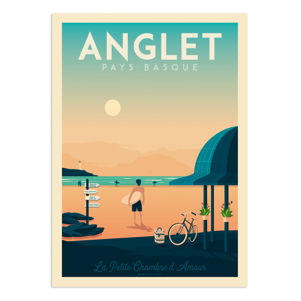 Affiche Angers  30x40 cm