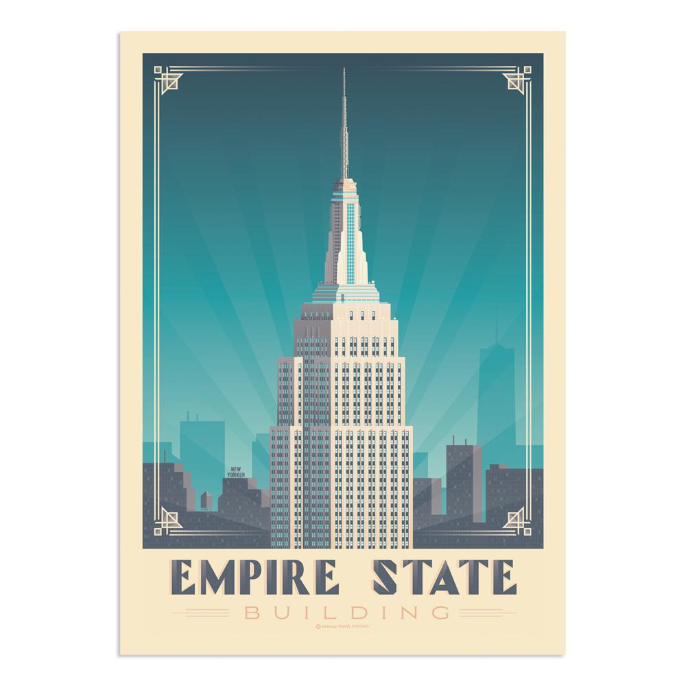 Affiche New York Empire State  21x29,7 cm