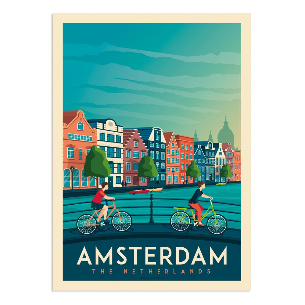 Affiche Amsterdam  30x40 cm