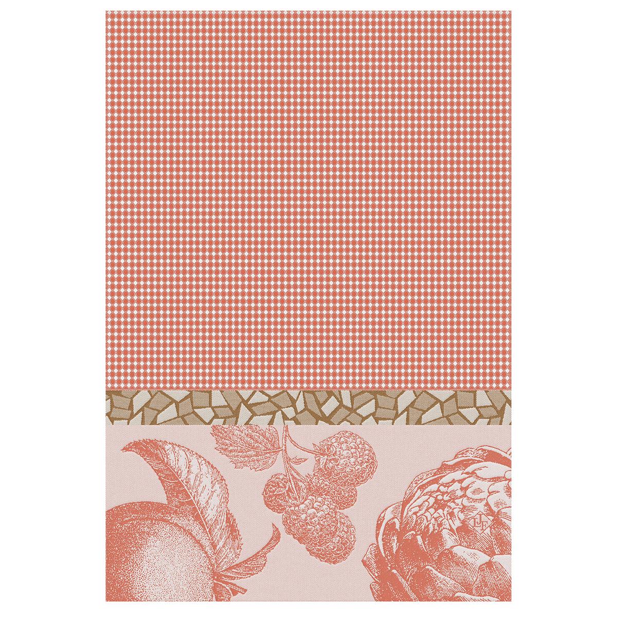Essuie-mains en coton abricot 54 x 38