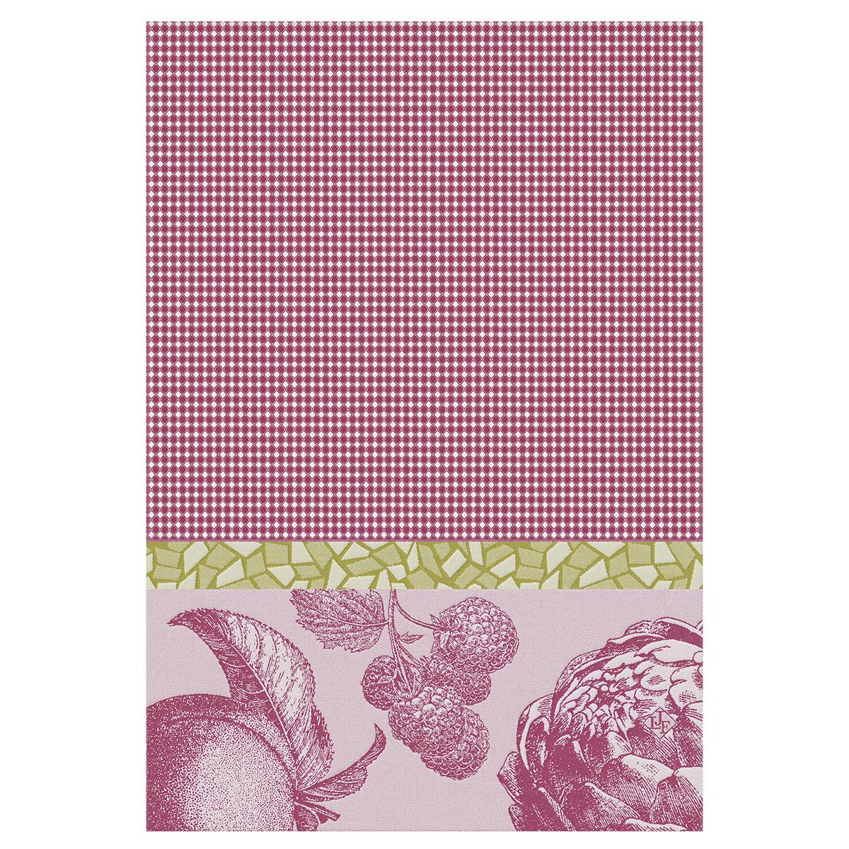 Essuie-mains en coton framboise 54 x 38