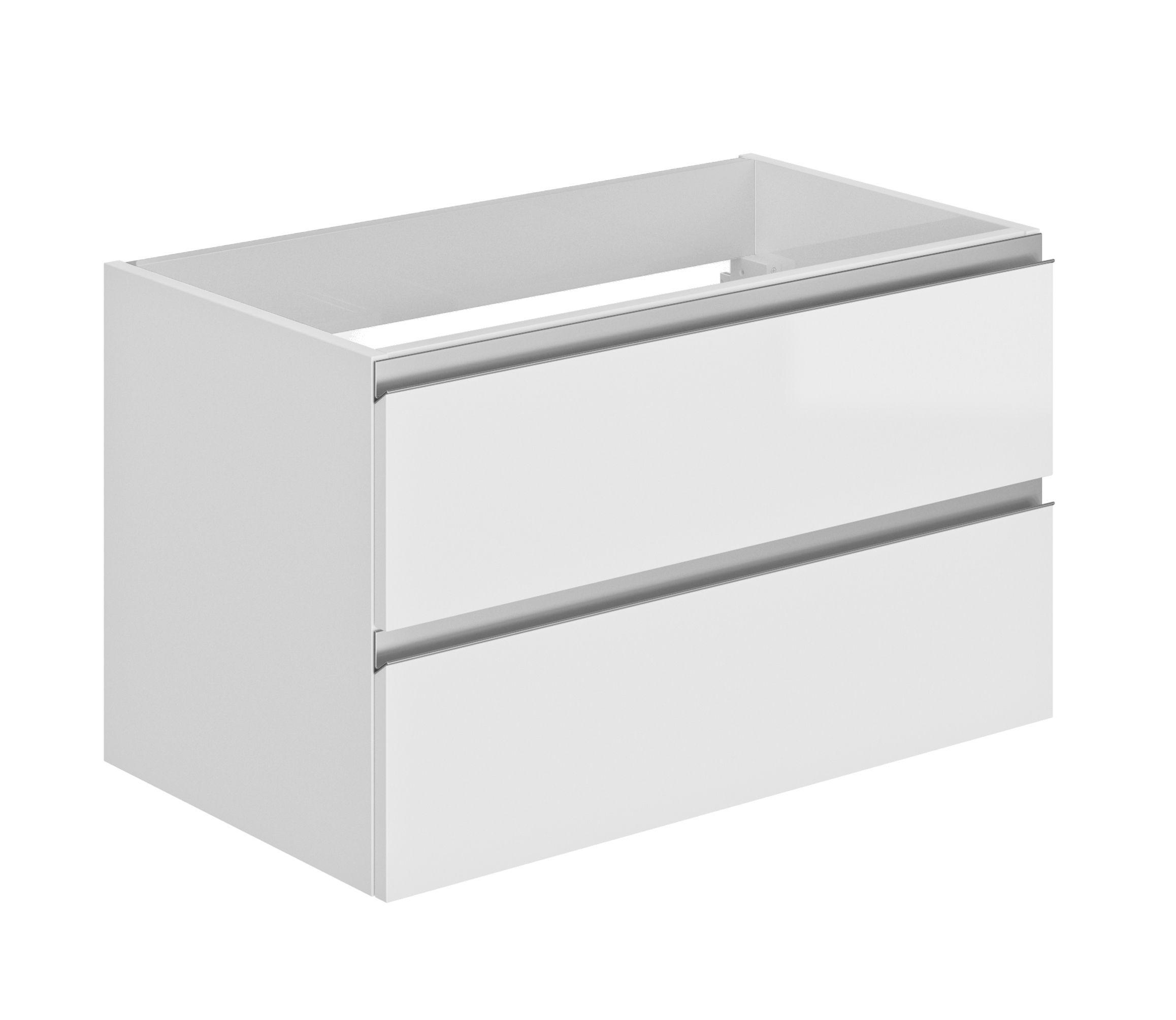 Meuble sous-vasque blanc brillant