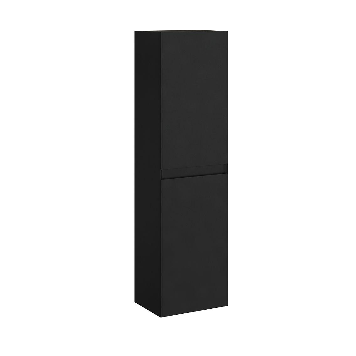 Colonne de rangement noire H150cm
