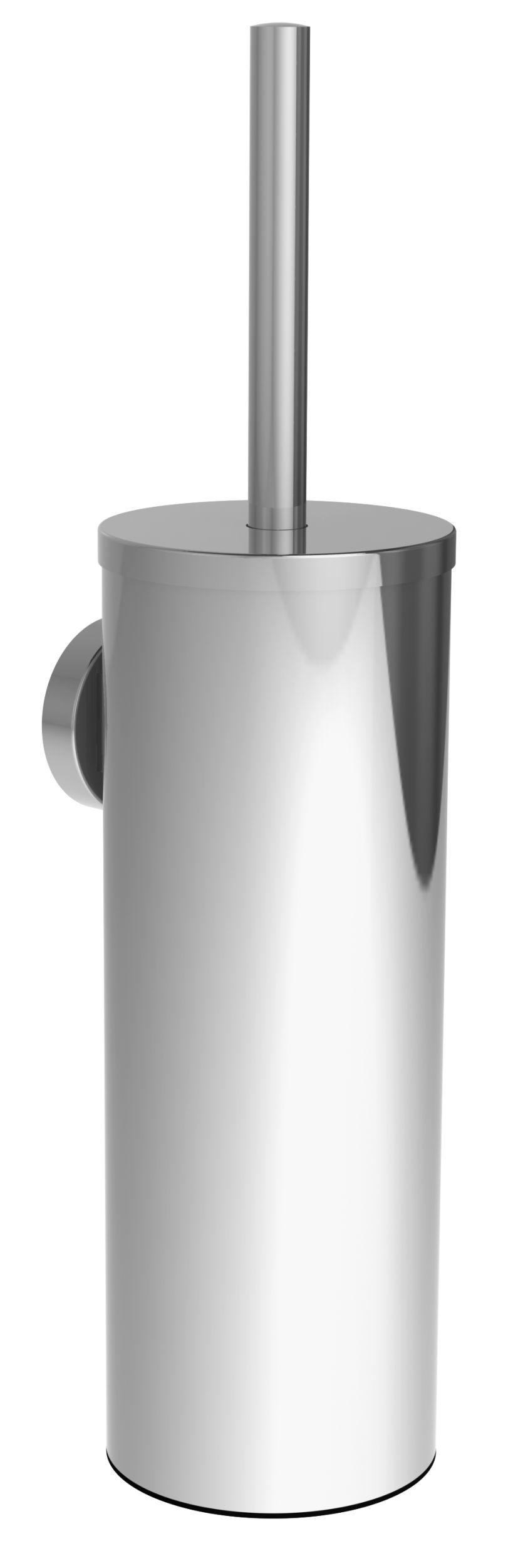 Brosse WC chrome brillant à fixer