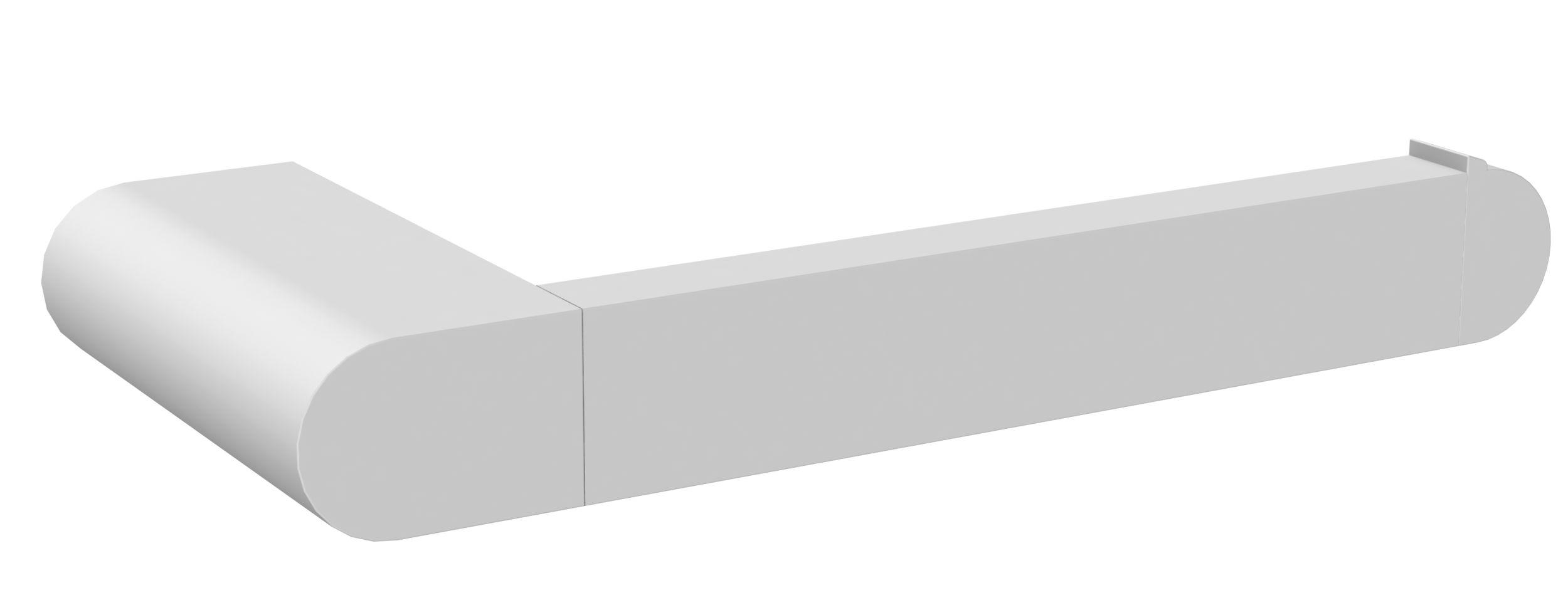 Porte-papier WC blanc mat à fixer