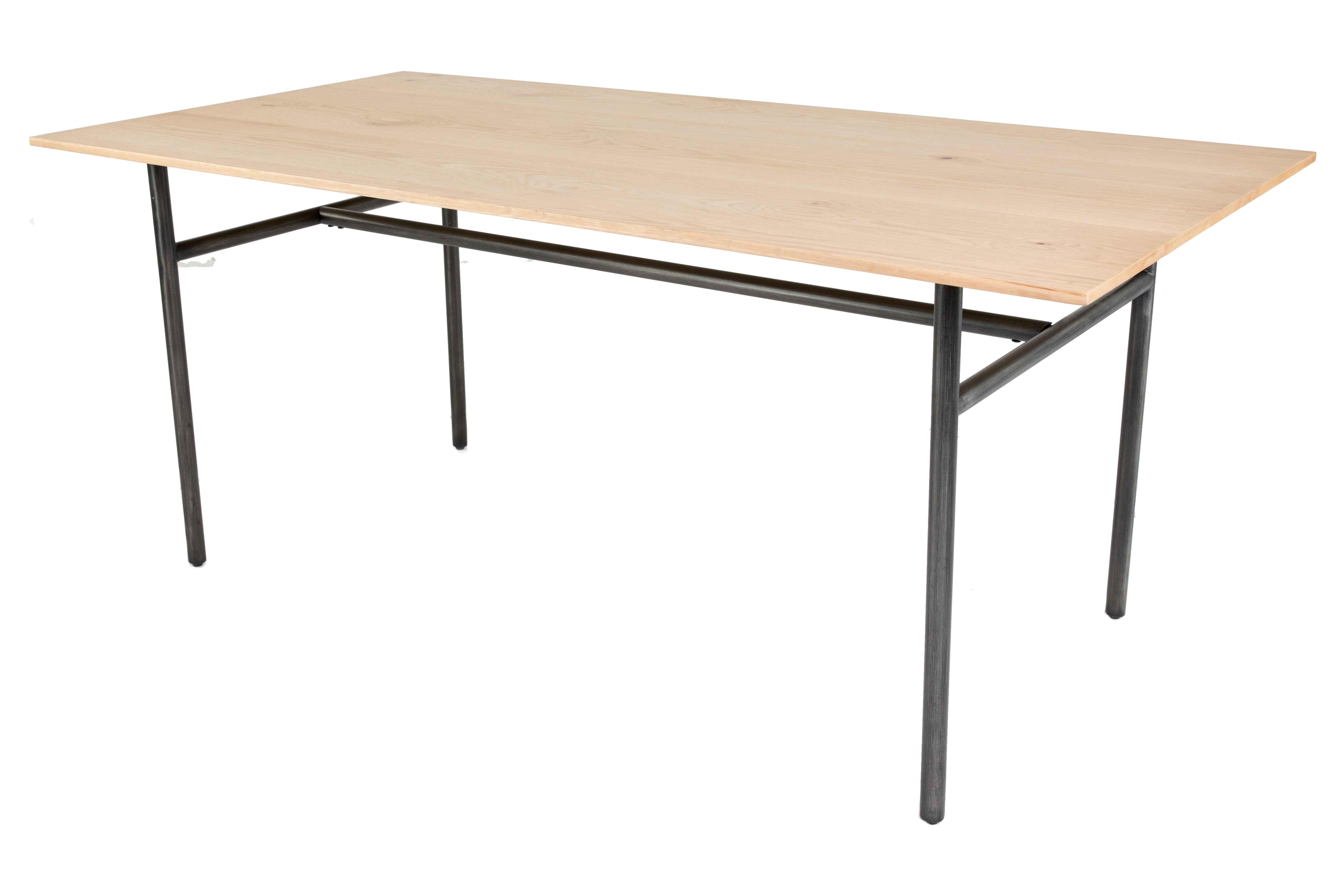 Table repas chêne et métal rectangulaire 180 cm