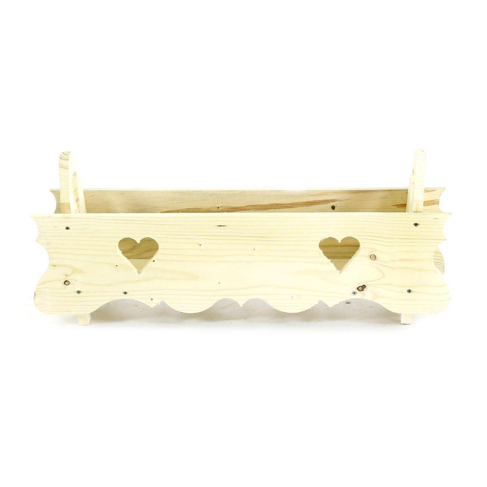 Jardinière cache-pot en bois 60 cm