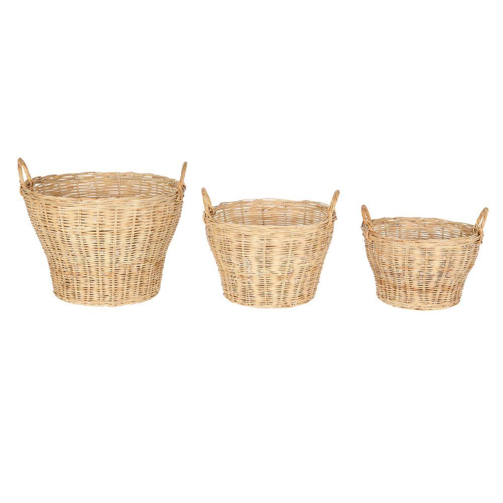 Paniers naturels en rotin (set de 3)