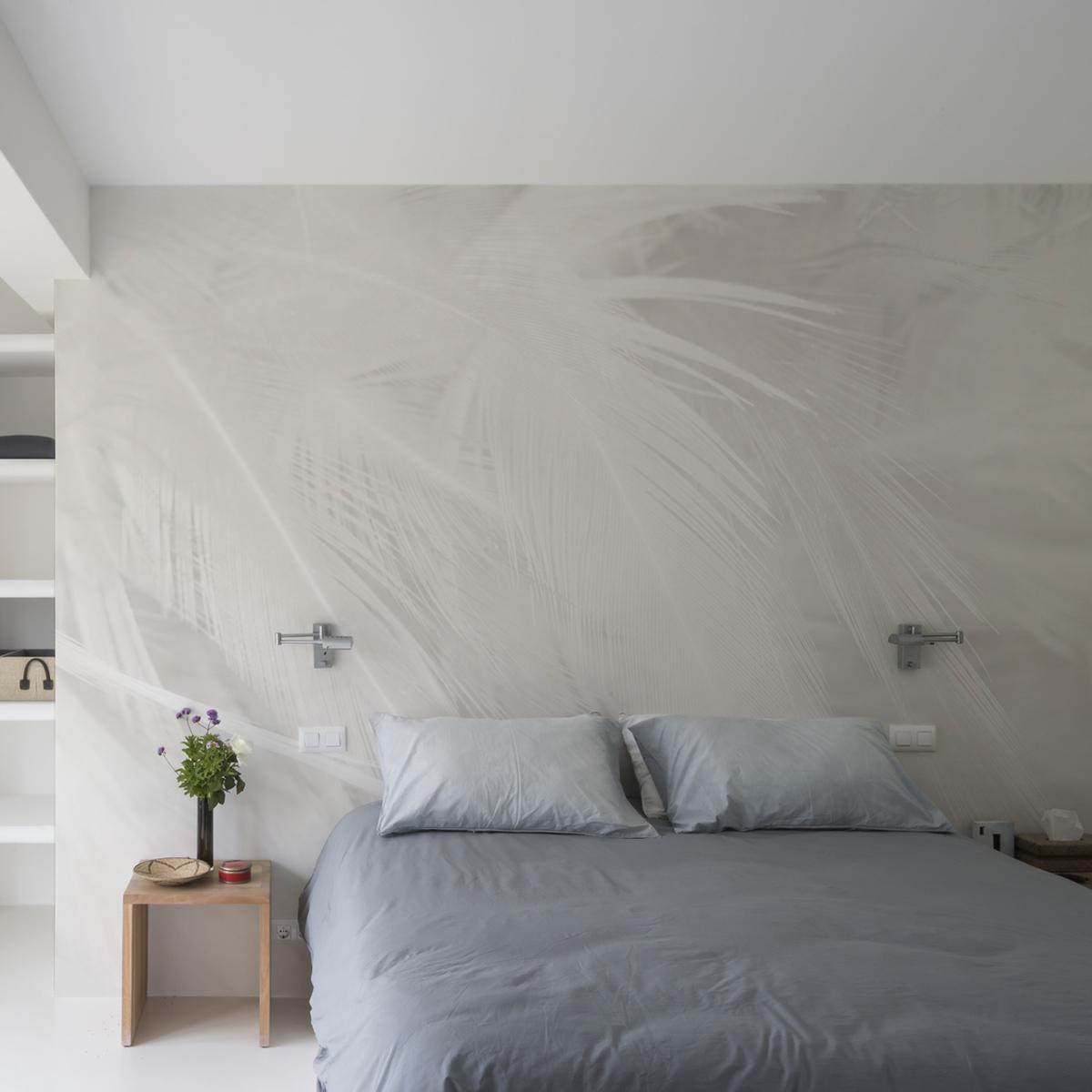 Papier peint panoramique plumes 340x250cm