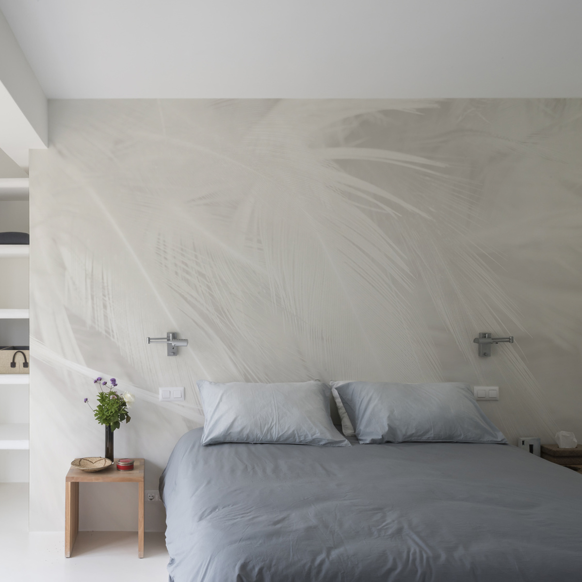 Papier peint panoramique plumes 255x250cm