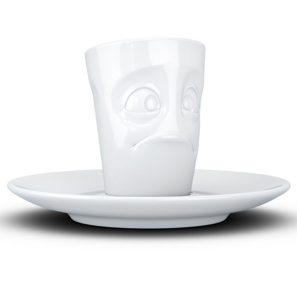 Tasse expresso en porcelaine perplexe 80ml