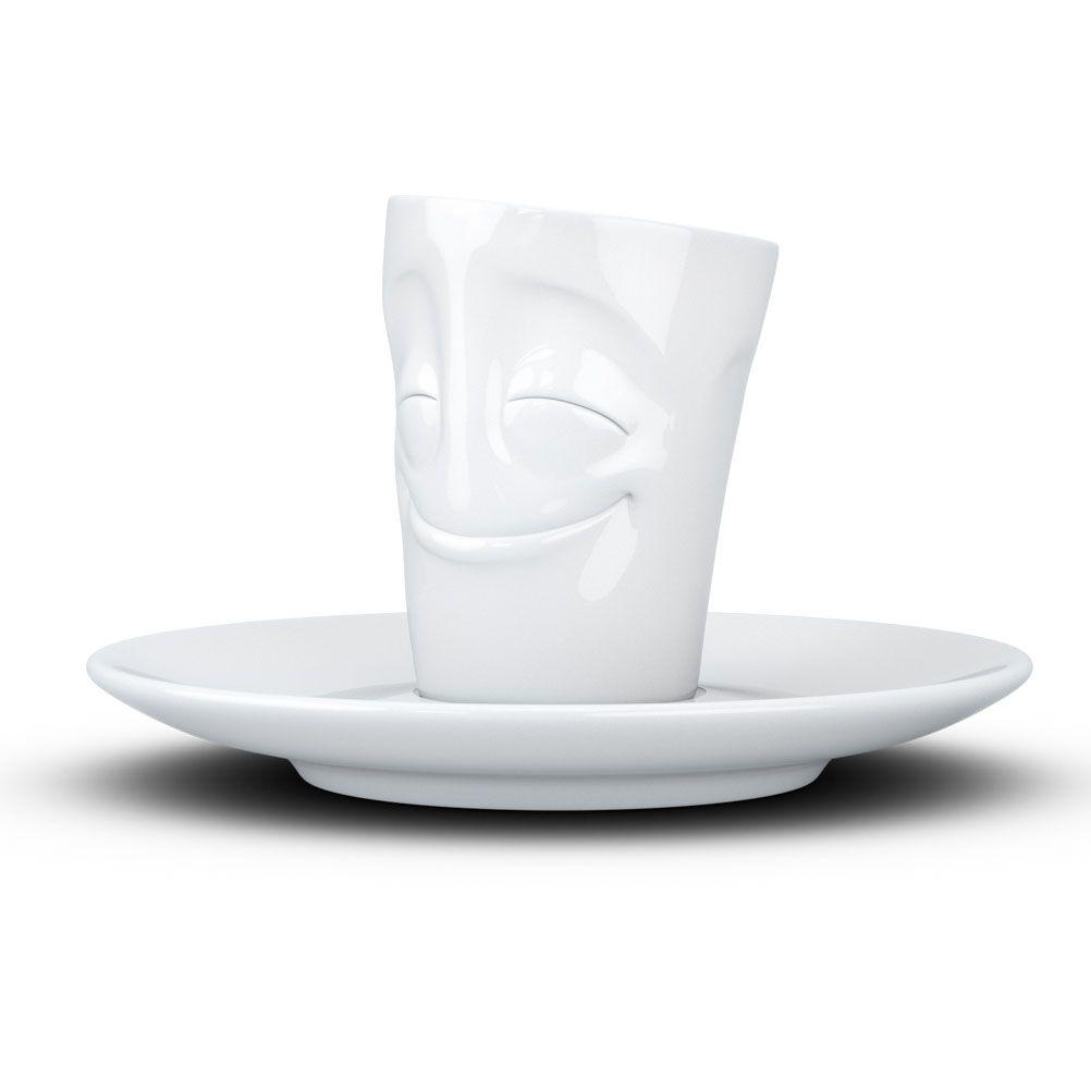 Tasse expresso en porcelaine heureux 80ml