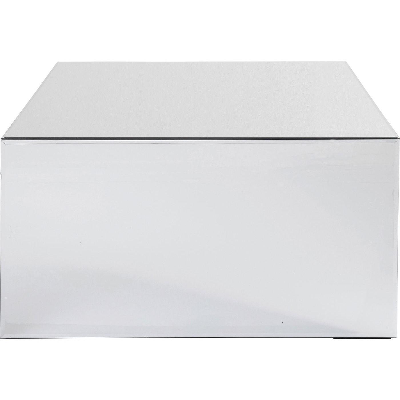 Table basse carrée en verre miroir 70x70