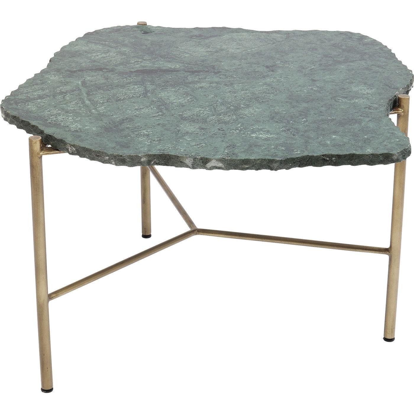 maison du monde Table basse en marbre vert et acier