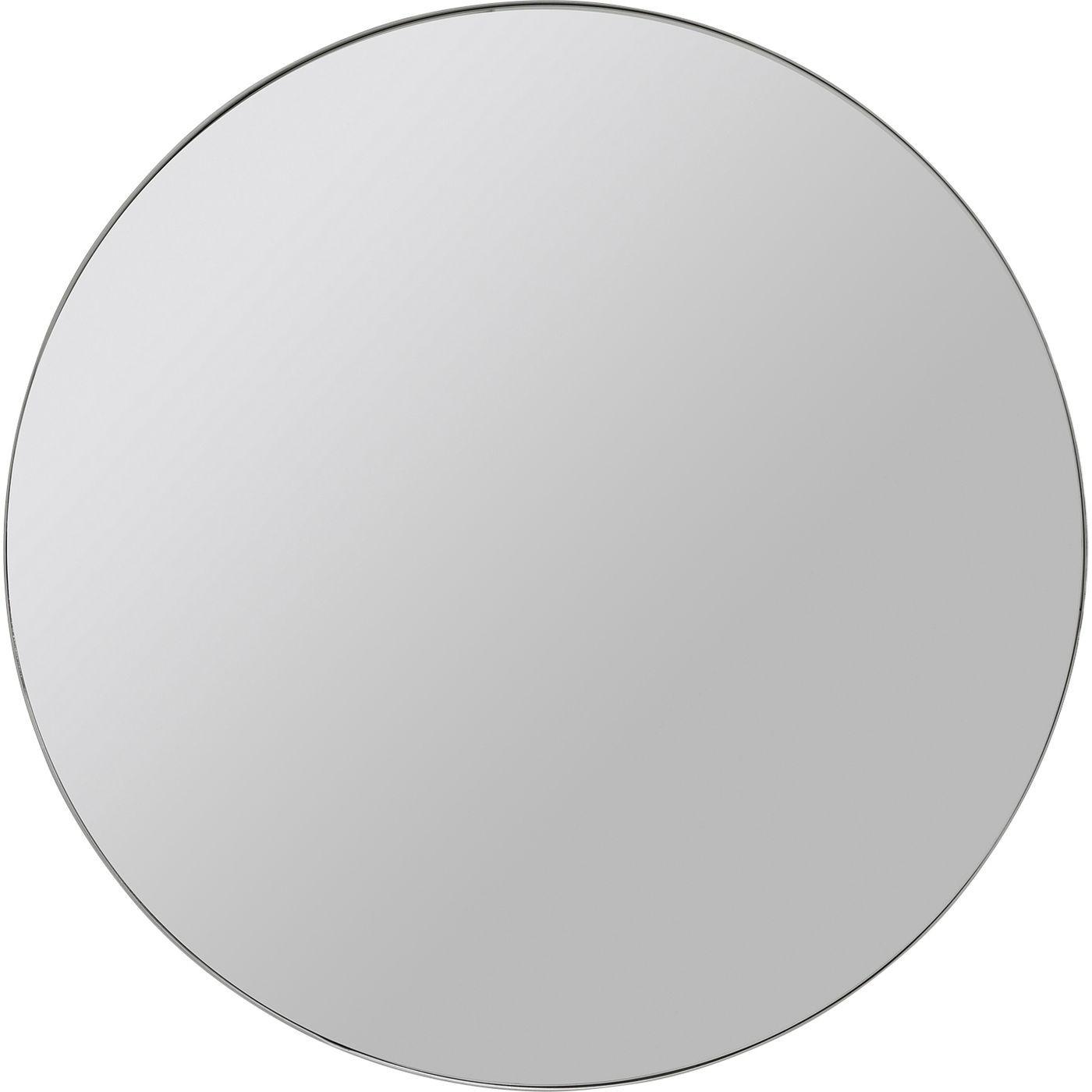 Miroir rond en métal chromé D60