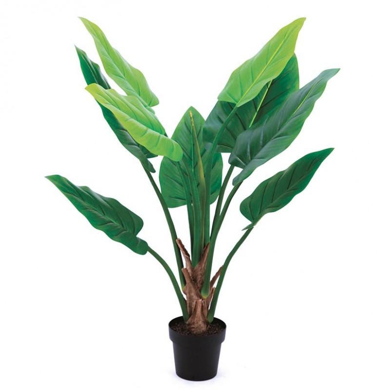 Alocasia artificiel 125cm 9 feuilles