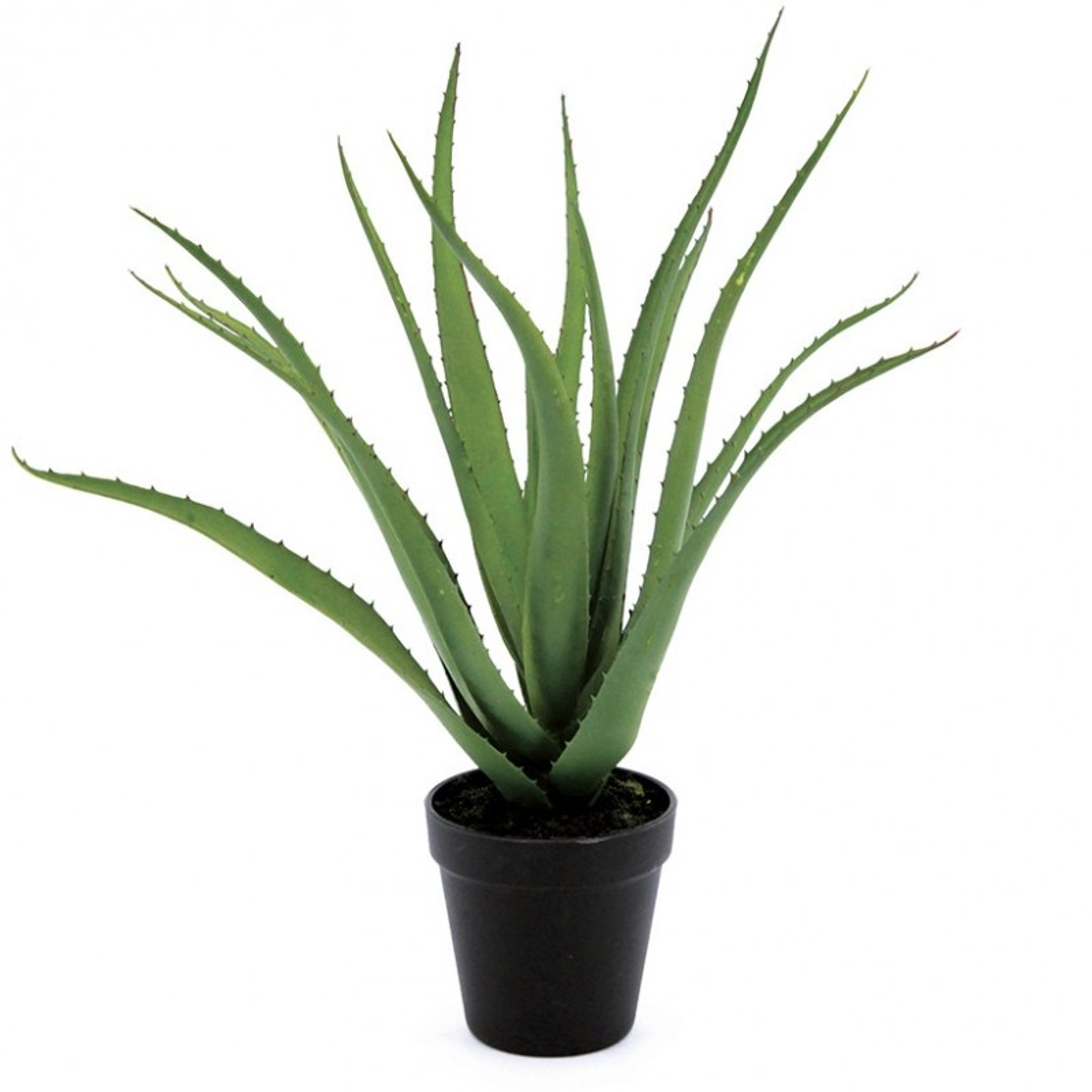 Aloe vera artificielle pot noir 45 cm