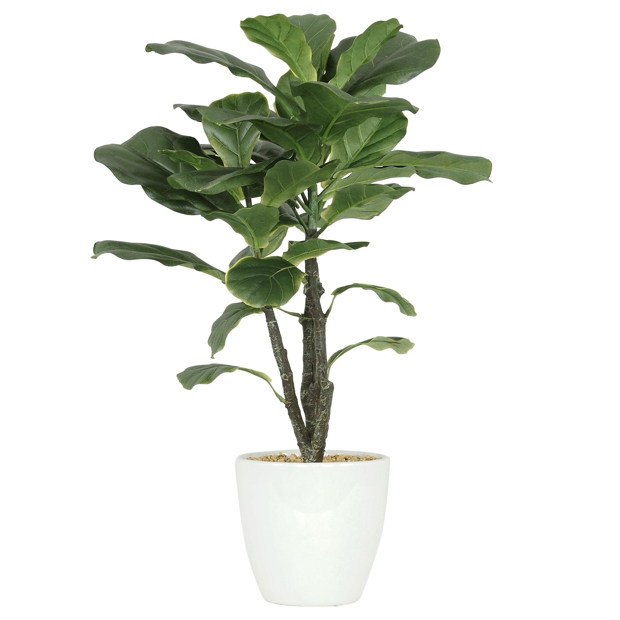 Ficus lyrata artificiel en pot céramique blanc 63cm