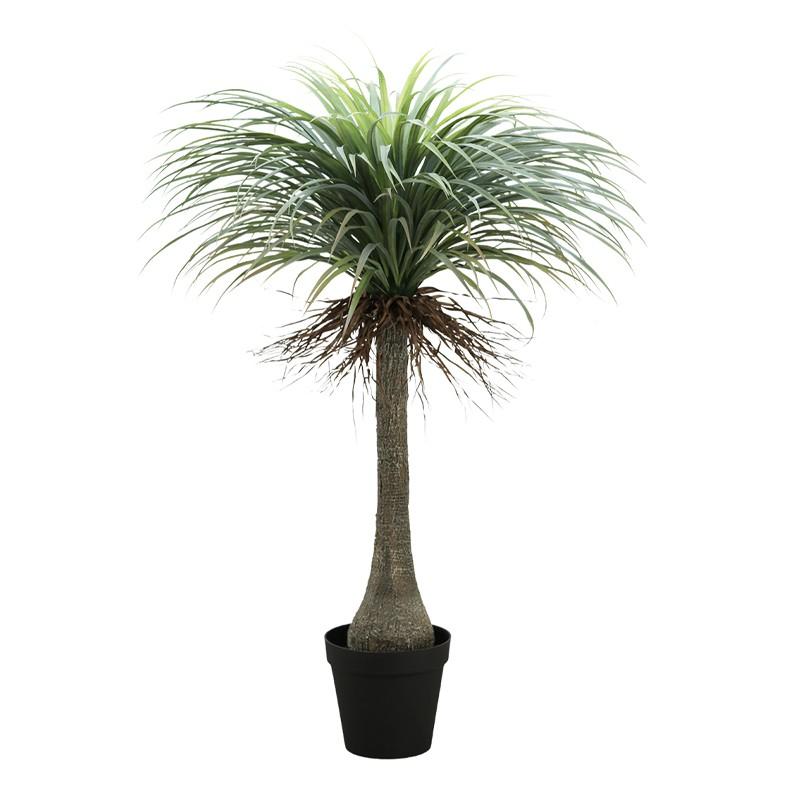 Yucca feuillage artificiel effet naturel en pot noir 150cm