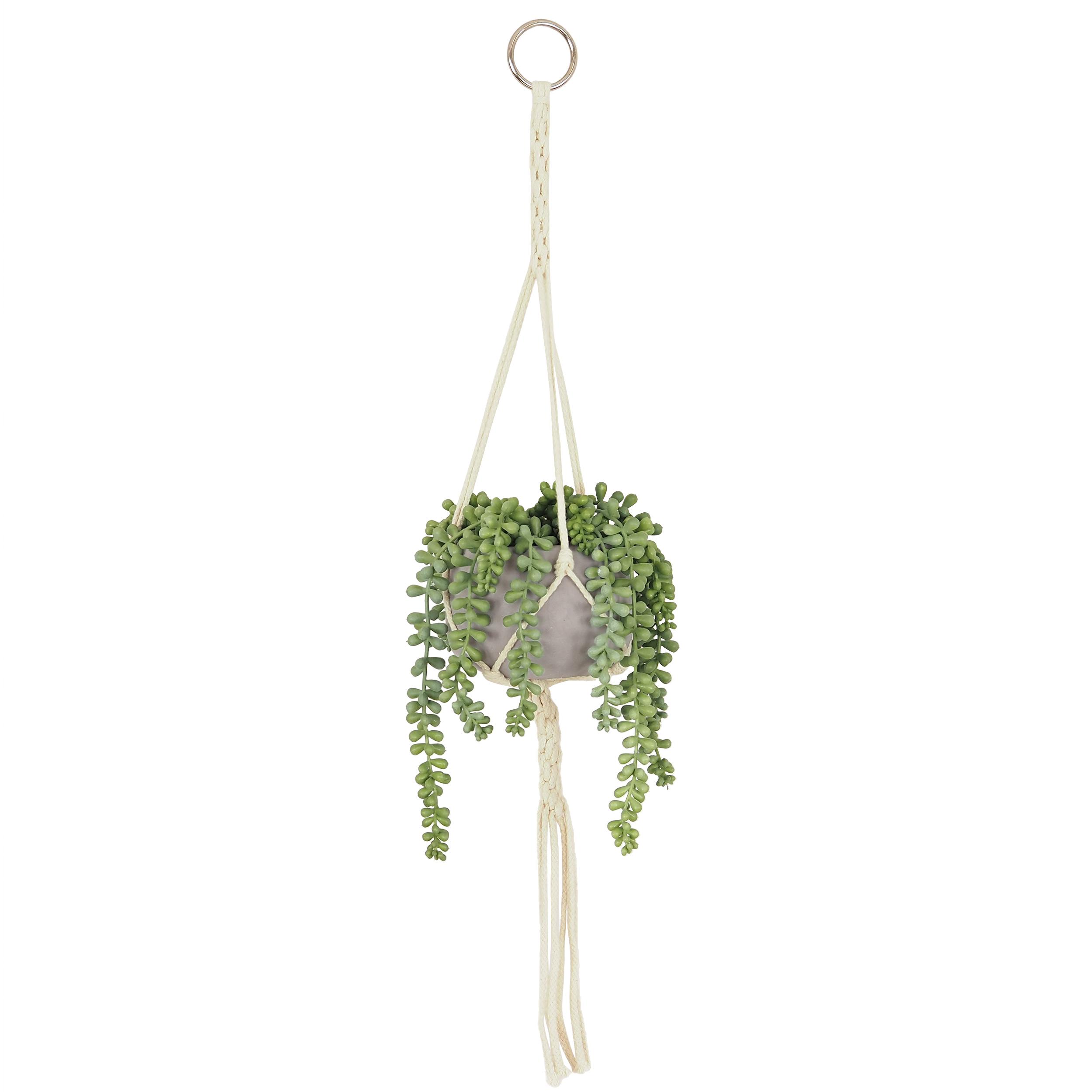 Suspension Succulentes artificielles 70 cm