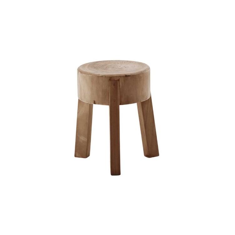 Tabouret en bois de Suar 51cm