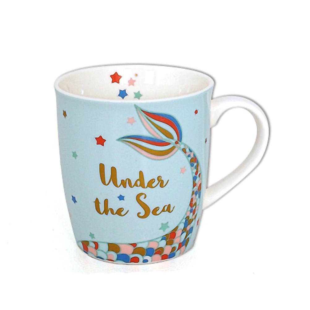Tasse en porcelaine sirène
