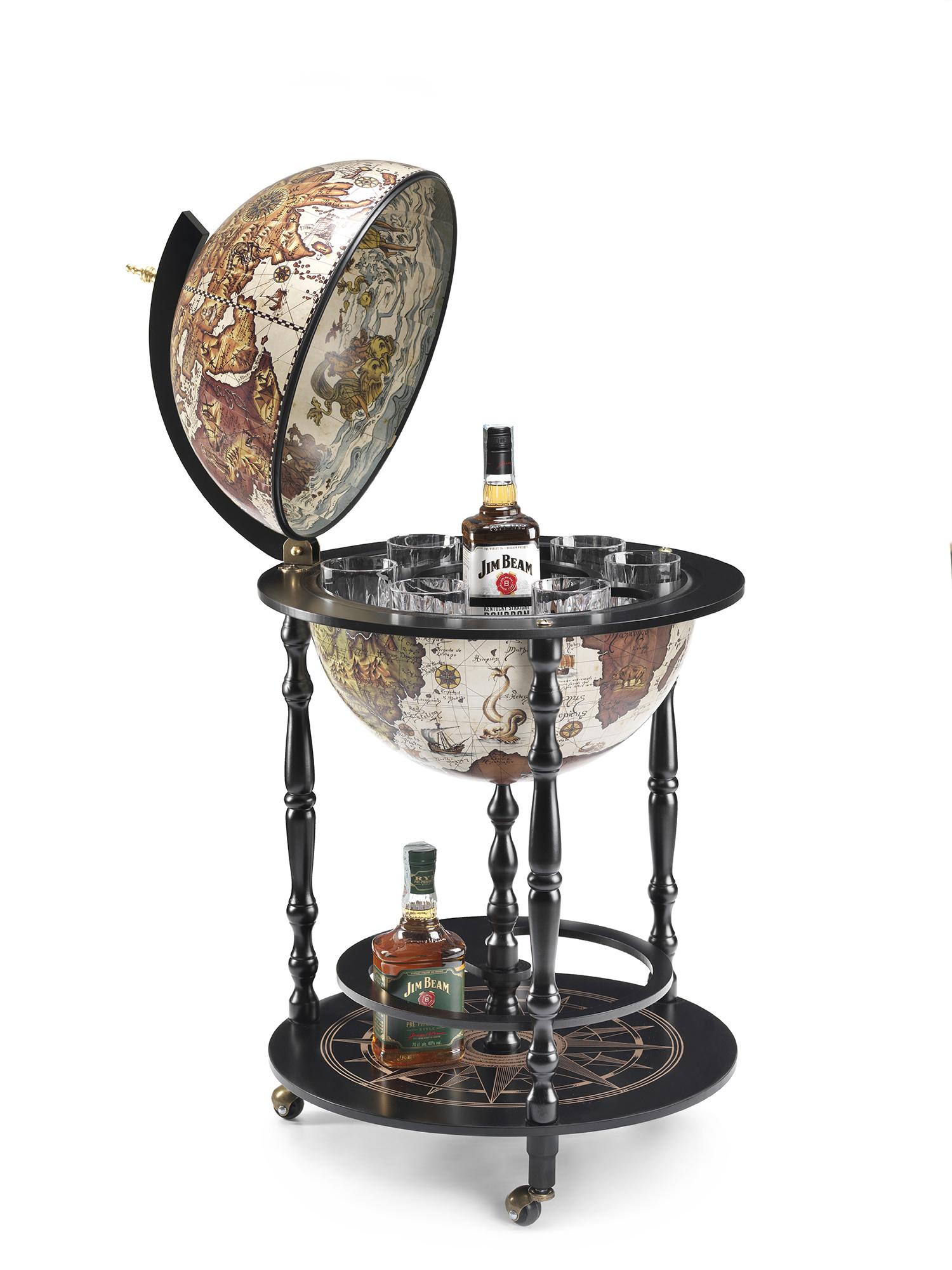 Globe bar Vulcano noir D42cm