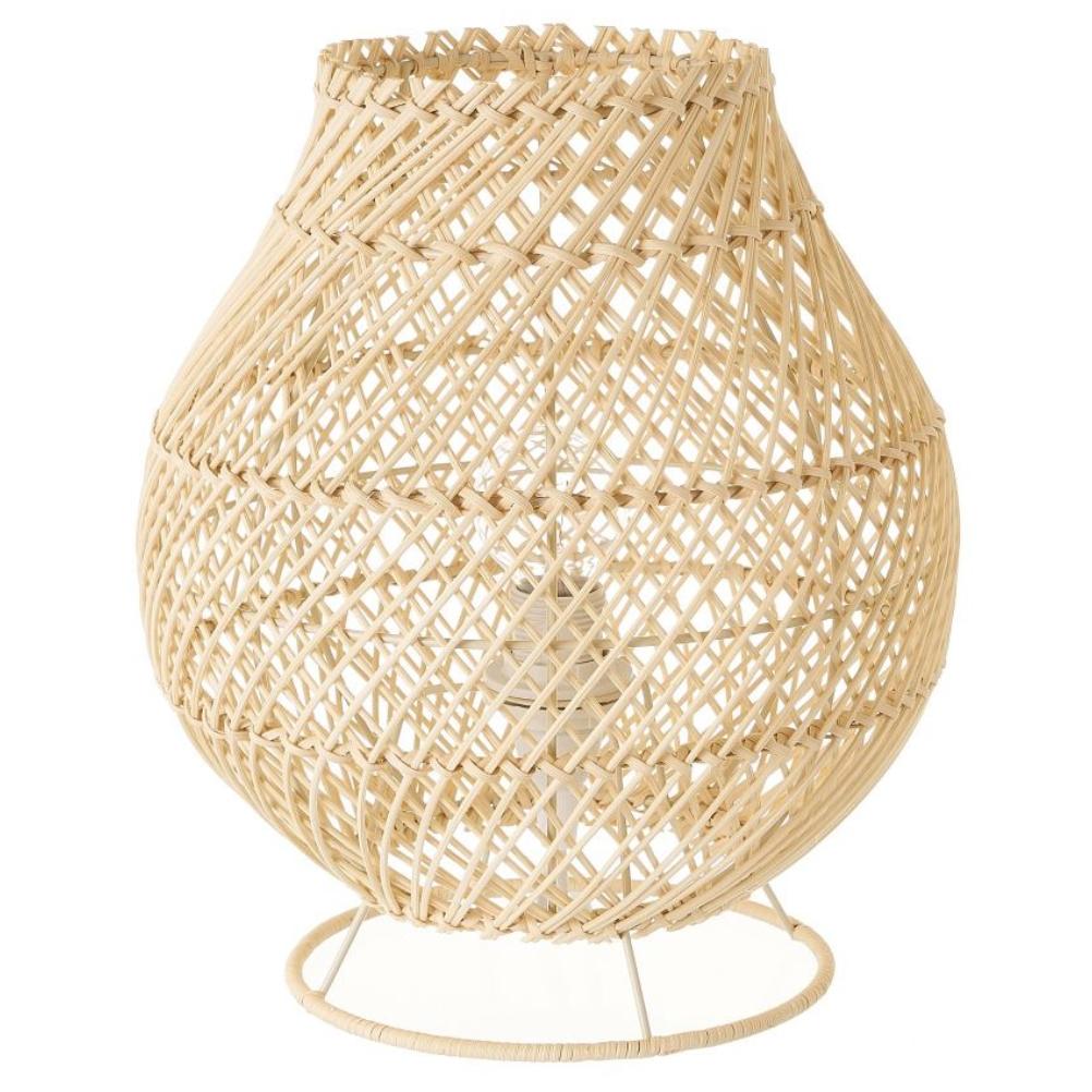 Lampe de table arrondie en rotin naturel D34cm