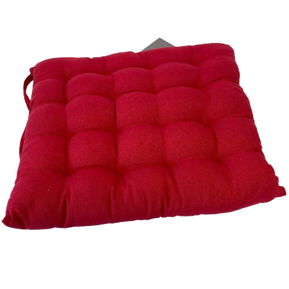 Coussin de chaise en coton rouge 40x40