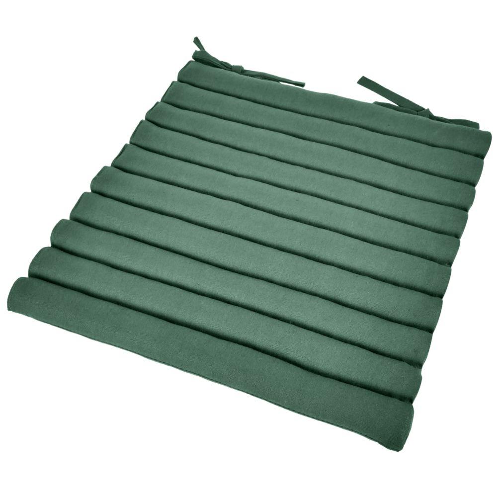 Coussin de chaise ergonomique vert cèdre 42x42