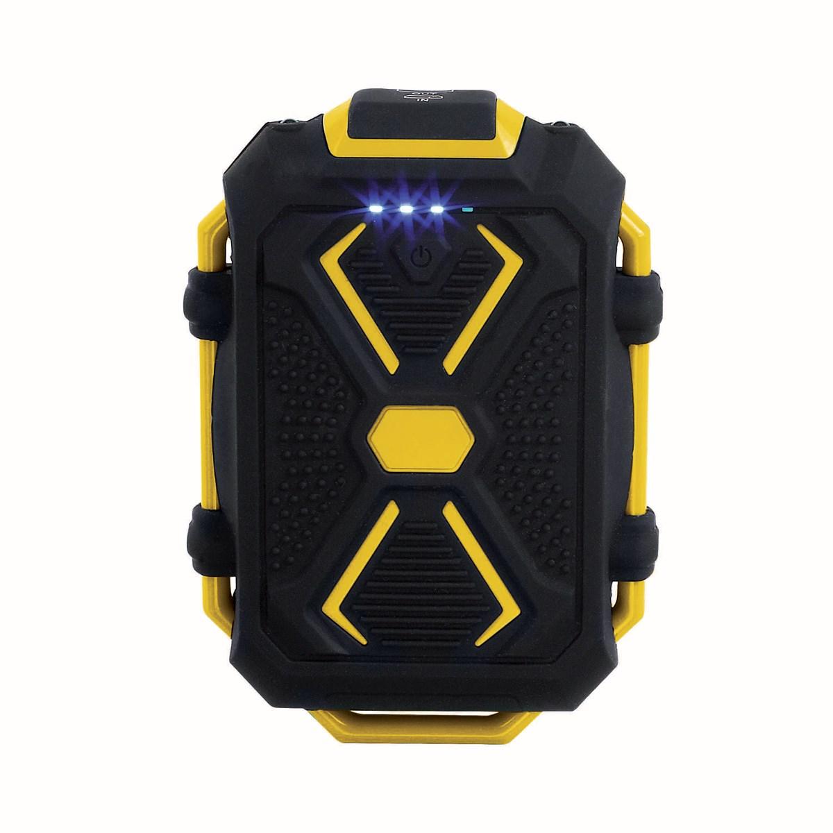Batterie de secours anti-choc en silicone jaune