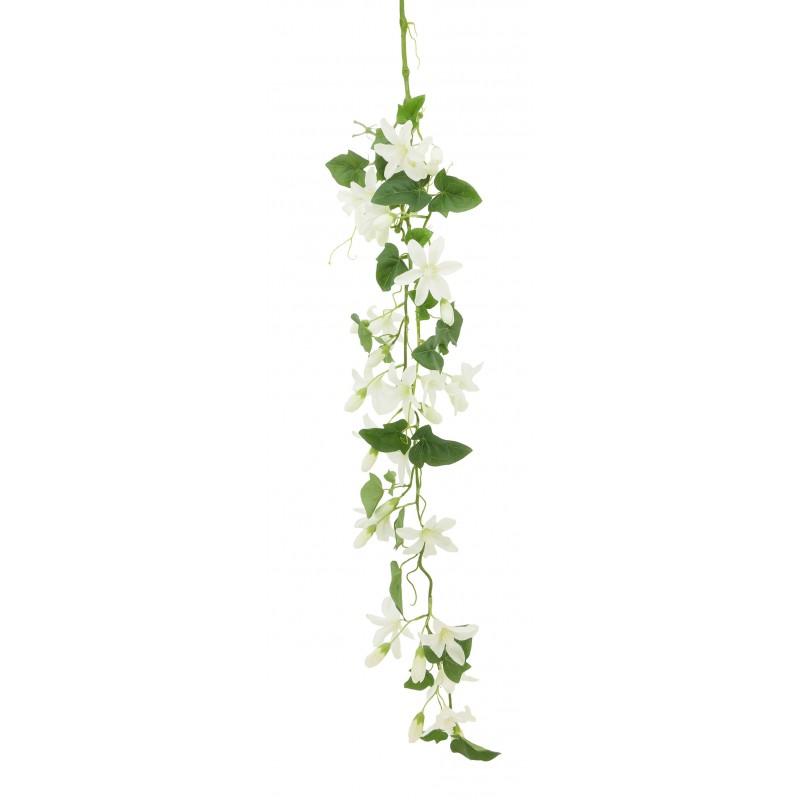 Chute de fleurs blanches artificielles Jasmin étoilé 120cm