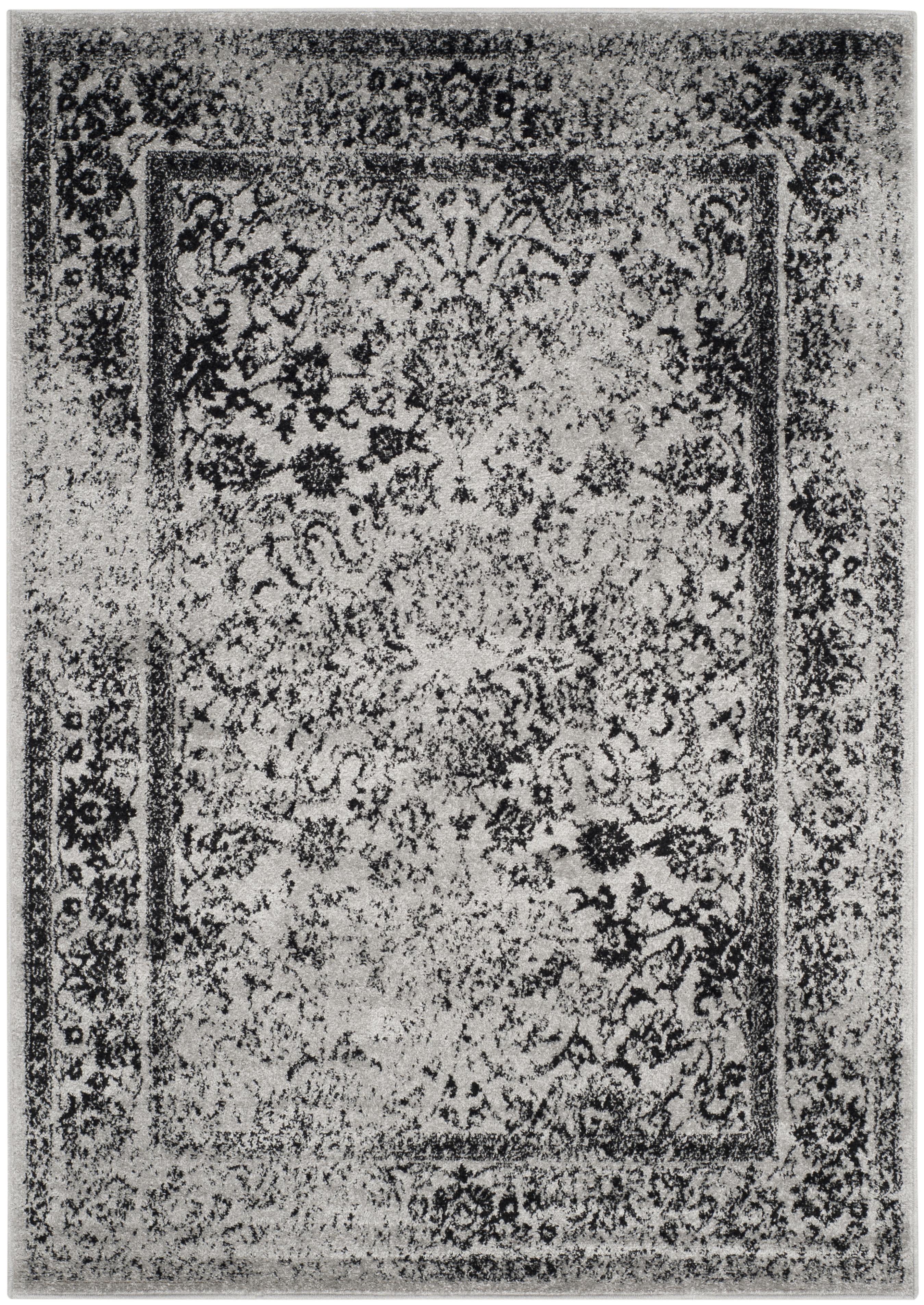 Tapis de salon contemporain gris et noir 160x230
