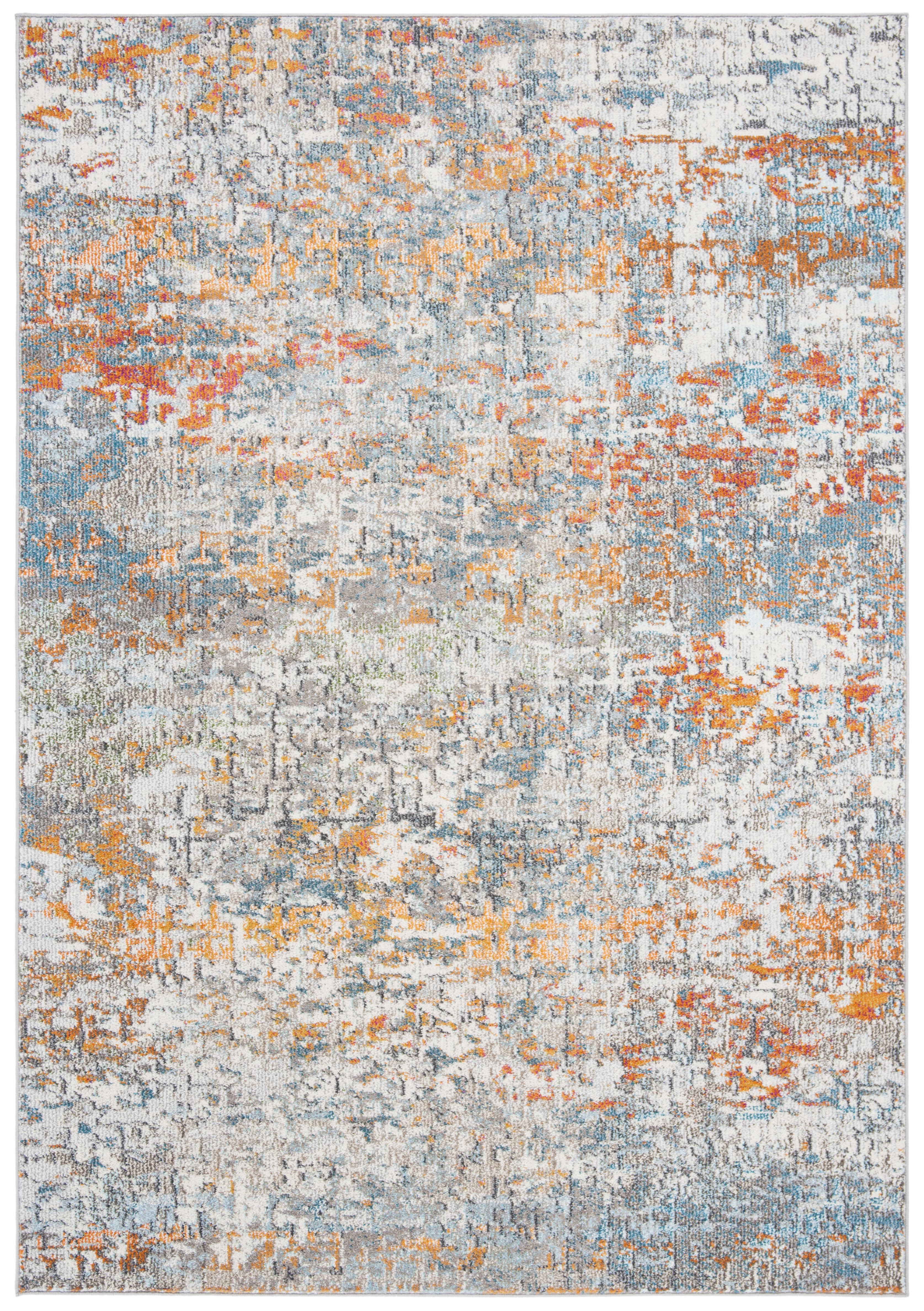 Tapis de salon contemporain gris et rose 160x230