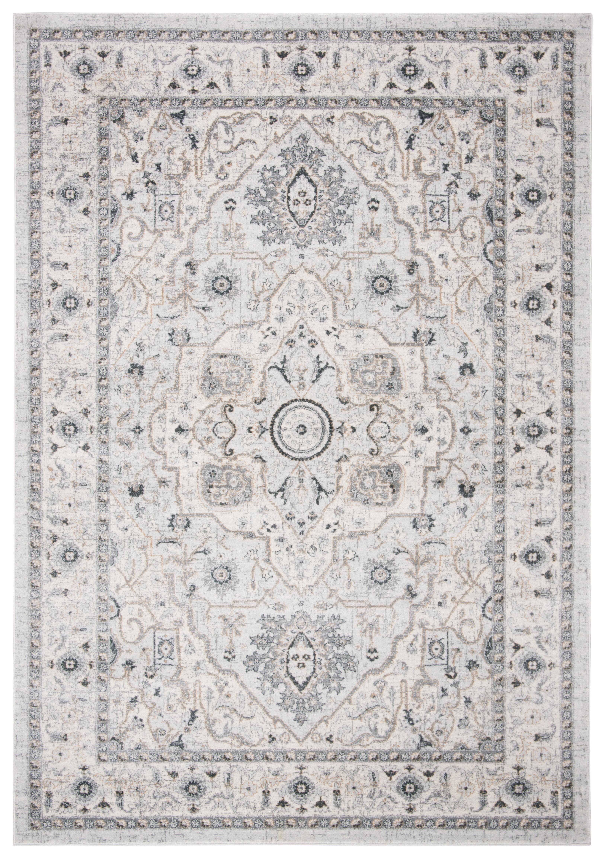Tapis de salon classique gris clair et gris 120x180