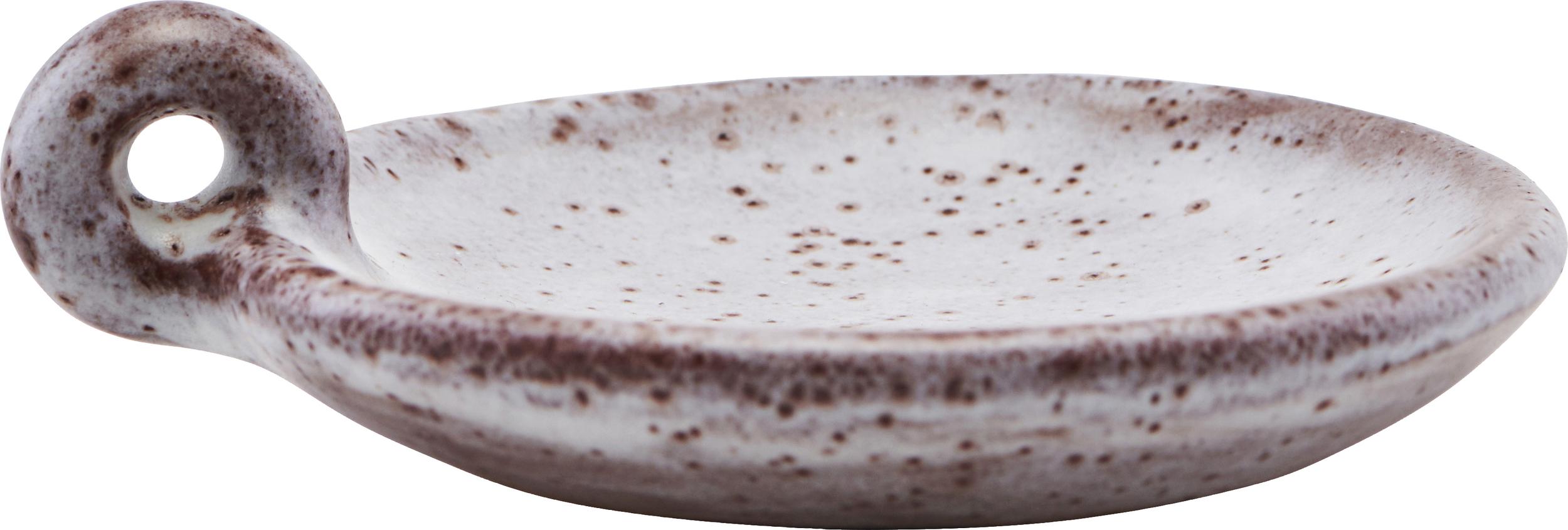 Bougeoir en céramique marron