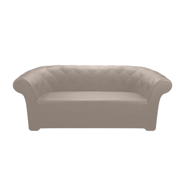 Canapé en résine recyclable gris tourterelle L193cm