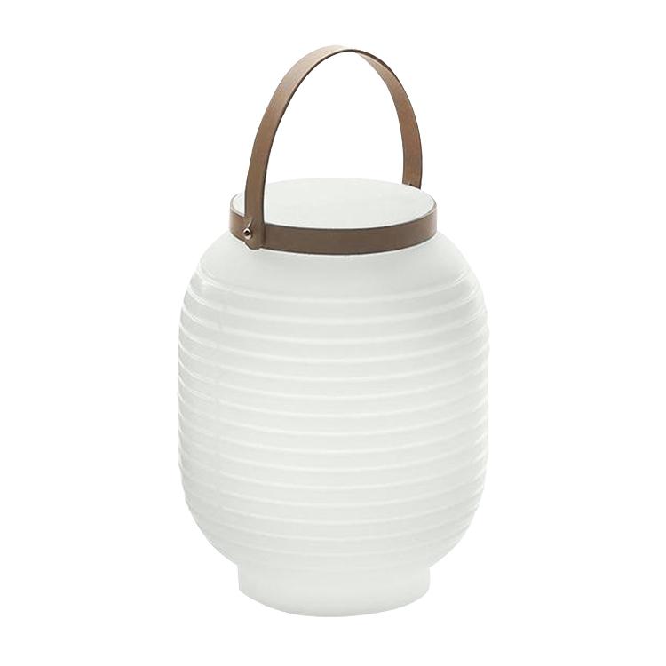 Lampe portable à led rechargeable en résine neutre D24cm