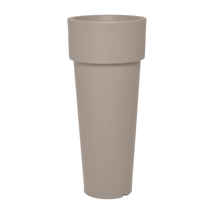 Pot à fleur en résine recyclable gris tourterelle D50cm
