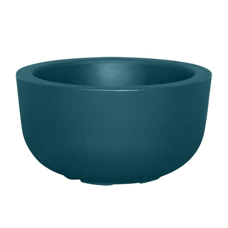 Pot à fleur en résine recyclable vert paon D47cm