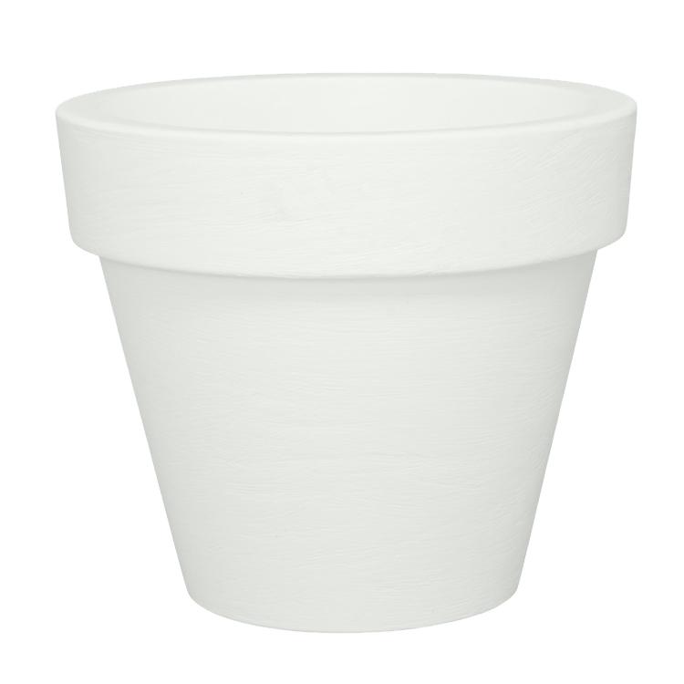 Pot à fleur éclairé en résine recyclable neutre D78cm