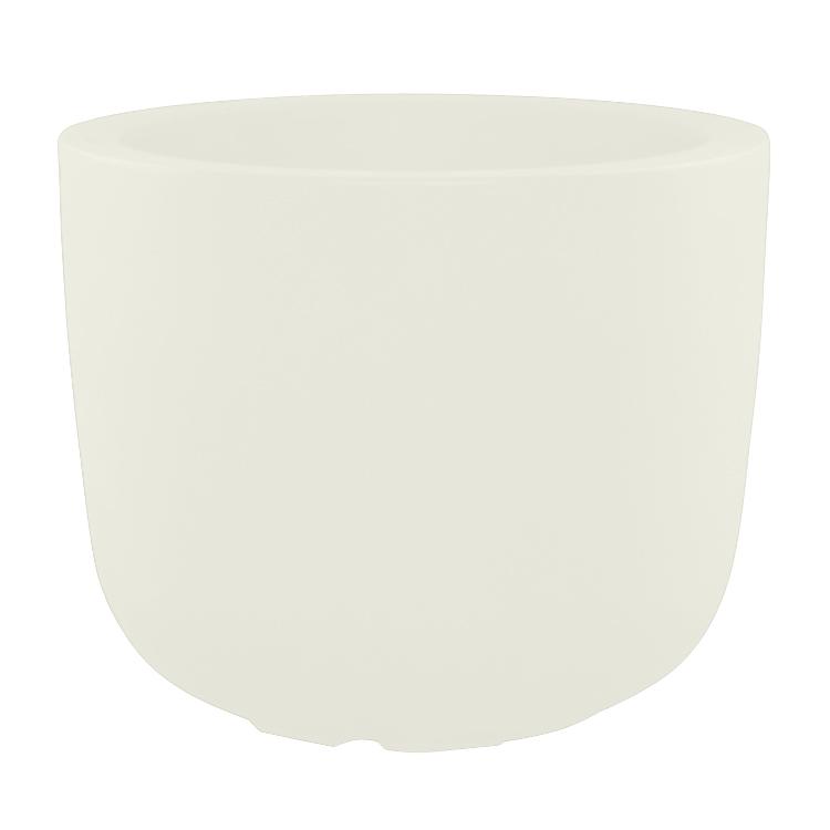 Pot à fleur en résine recyclable blanc D48cm