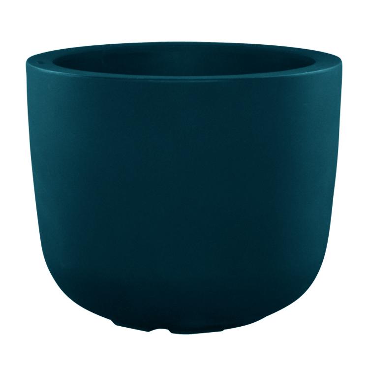 Pot à fleur en résine recyclable vert paon D48cm