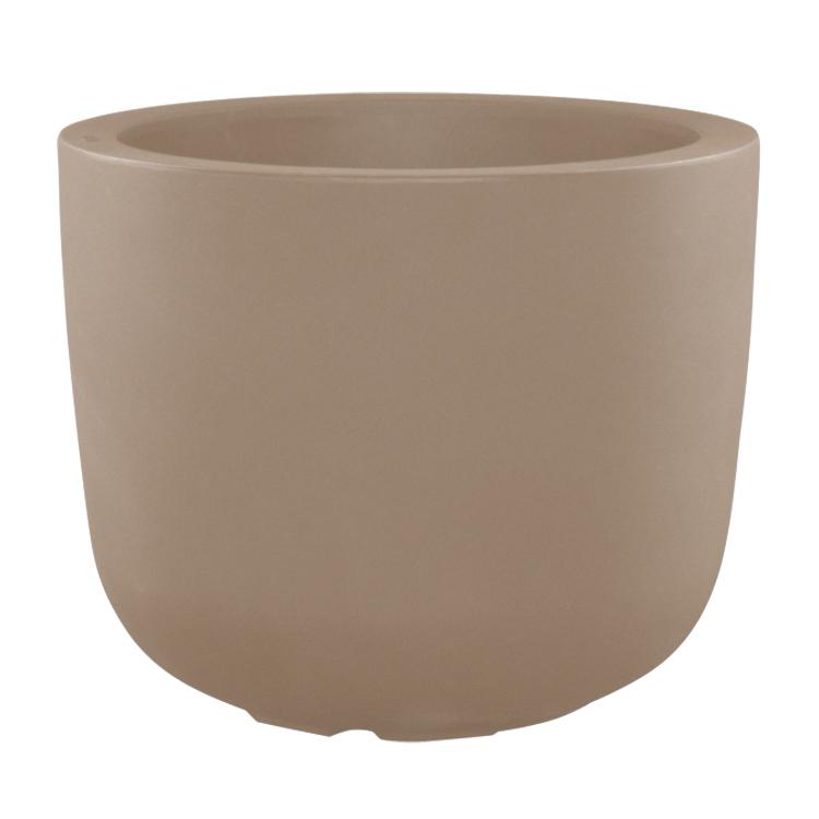 Pot à fleur en résine recyclable gris tourterelle D70cm