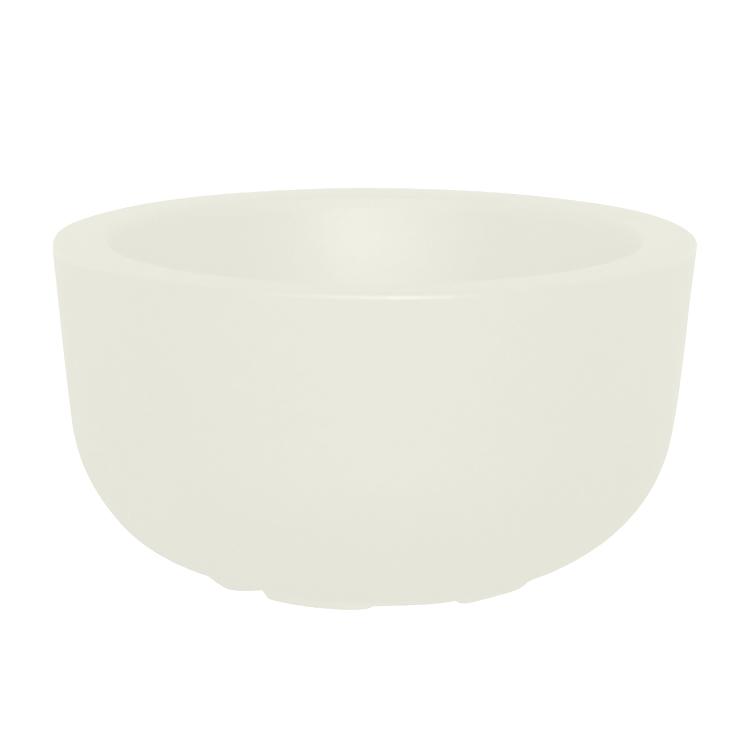 Pot à fleur en résine recyclable blanc D47cm