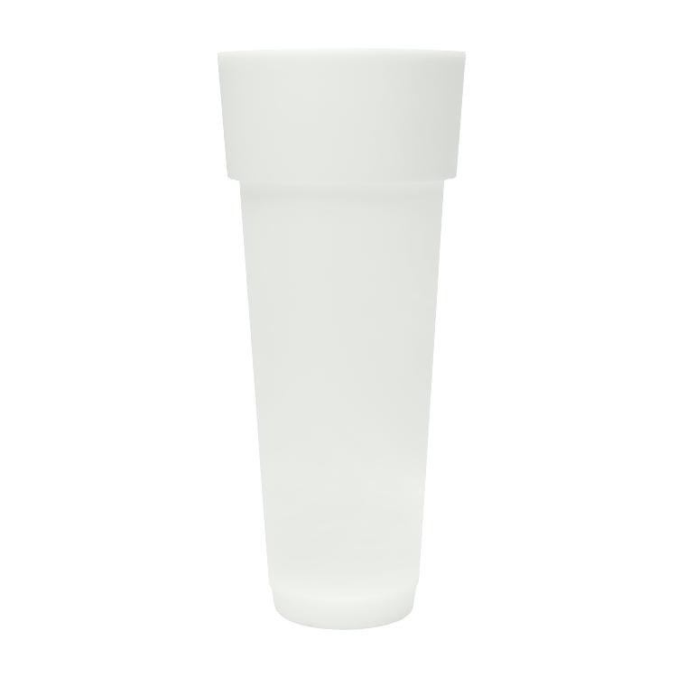 Pot à fleur éclairé en résine recyclable neutre D50cm