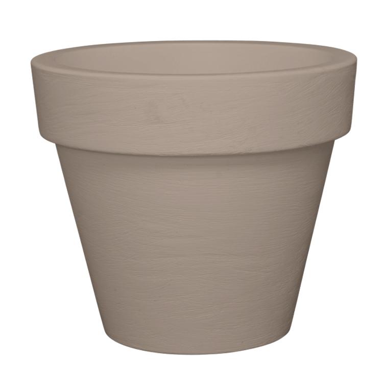 Pot à fleur en résine recyclable gris tourterelle D68cm