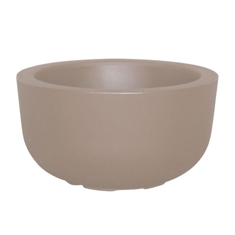 Pot à fleur en résine recyclable gris tourterelle D47cm