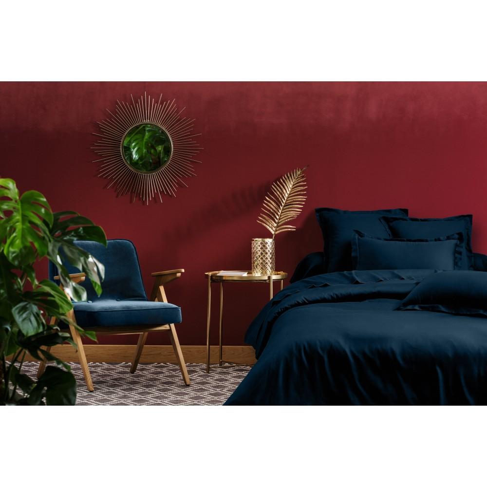 Parure de lit 2 pcs en satin de coton 140x200 cm+1 TO 63x63 cm bleu