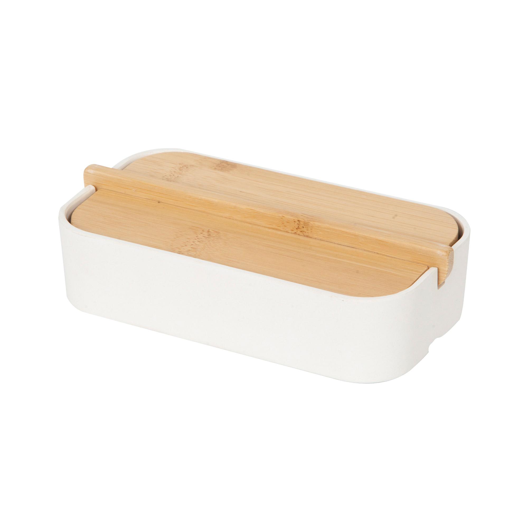 Boîte de rangement en bambou 15,4x8,3cm